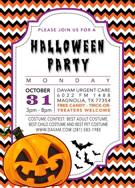 halloween costume contest flyer